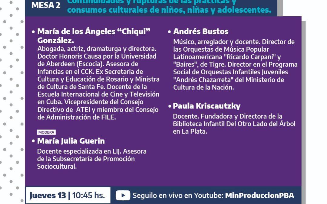 """Participación encuentro Culturas Bonaerenses: """"Diálogos sobre producciones, identidades y derechos culturales en tiempos de pandemia"""""""